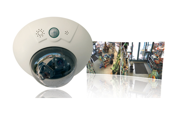 Цветна IP камера MOBOTIX  DualDome D12Di Security 180°